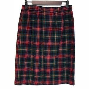 Pendleton | Christmas tartan plaid wool skirt sz18